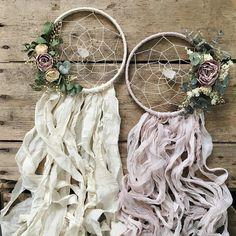 Seca flor Dreamcatcher bohemio  Regalo de la boda