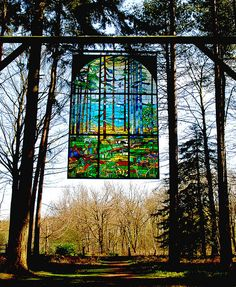 Stained glass window in the Forest of Dean, UK  (just as beautiful in person)