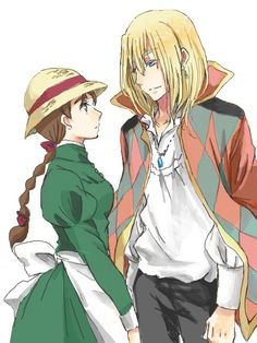 Howl's moving castle, Hauru & Sophie.