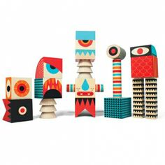 Uncle Goose stack and scare wooden building blocks - Image Stack and Scare