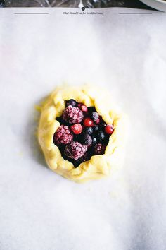 Galette with berries