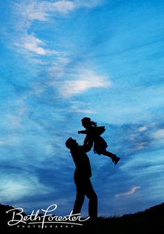 Daddy and Me • Silhouette • Sky