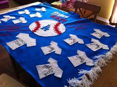 Dodgers little league team banner