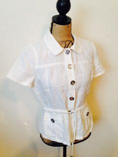 Michael Kors Linen Shirt #MichaelKors #ButtonDownShirt