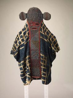 Elephant mask and tunic, Bamileke people, Cameroon, mid-20th century.
