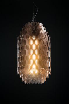 Lampada a sospensione a LED in Cristalflex® CHANTAL by Slamp design Studio Fuksas