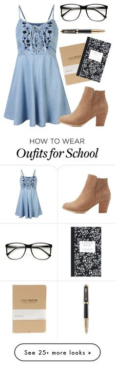 """""""Back To School"""" by oliviak267 on Polyvore featuring Charlotte Russe, ZeroUV…"""