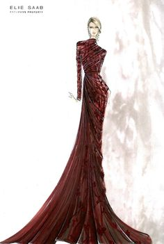Fashion & Couture: Elie Saab Sketches