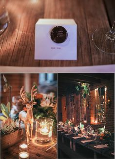 New Years Eve wedding at the Carondelet House, complete with star charts and sparkle antlers! Can't get enough of those tablescapes and name cards.