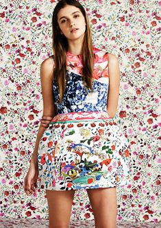 Flowered - girl's clothes blending in with background