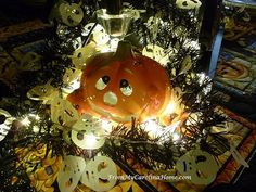 Halloween Tablescape using lights ~ From My Carolina Home