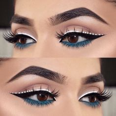 Line Ace Legend White winged liner White Eyeliner Ace Legend Line Liner White Winged Eyeliner Make-up, Eyeliner Hacks, White Eyeliner Makeup, White Eyeliner Looks, Metallic Eyeliner, Eyeliner Styles, Eyeliner Brands, Color Eyeliner, Eyeliner Ideas
