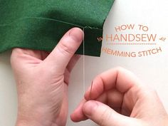 How to Handsew: The Hemming Stitch