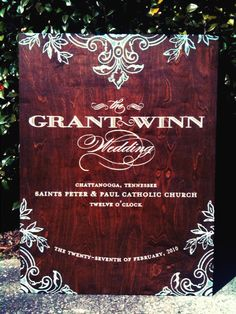 Wedding Reception Signs « Chocolate Butterbean