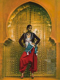 Red silk dhoti pants | Indian style | jasmine pants | harem pants
