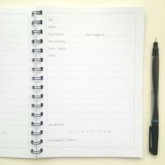 Reading / Book Journal, perfect personalised gift for an avid reader!