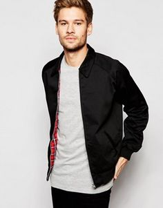 ASOS Harrington Jacket In Black