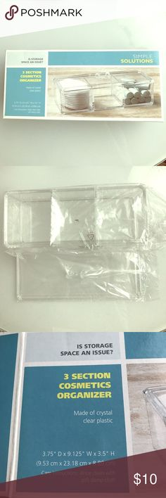 3 Section Cosmetics Organizer Brand new! Never used. Makeup