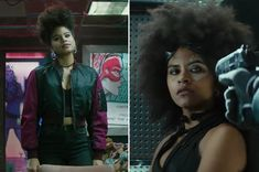 Zazie beetz domino costume deadpool 2 movietelevision costumes ii dont talk to me today unless its about domino in the new deadpool publicscrutiny Images