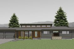 Contemporary Floor Plan - 1986 sq. ft., 3 bedroom, 2 bath -- simple and elegant