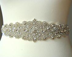 Crystal Luxury Bridal Sash,Wedding Dress Sash Belt, Rhinestone Sash, Rhinestone Bridal Bridesmaid Sash Belt, Wedding dress sash