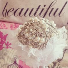 A gorgeous full bling custom made for a special Bride. Visit www.thelovebucket.co.za for more info or find The Love Bucket store in Etsy. Only $130. Bucket, Bling, Crown, Love, Etsy, Jewelry, Amor, Jewel, Corona
