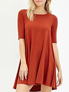 half sleeve O-neck Remarkable Shift Dress #ClothingOnline #PlusSizeWomensClothing #CheapClothing #FashionClothing #womenswear #sexydress #womensdress #womenfashioncasual #womensfashionforwork  #fashion #womensfashionwinter