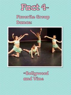 Dance Moms fact about me!!! My second choice would have been Pink Lemonade or Silver Spoons!!!