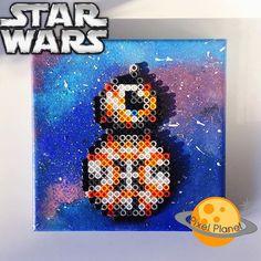 BB-8 Star Wars VII perler beads by pixel_planet_