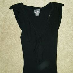 Little black sweater dress Cute black sweater dress, practically new -- I wore it once for Valentine's Day. Perfect date dress! Even though it's a M, it kind of fits small. Dresses Mini
