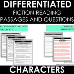 Differentiated Reading Passages and Questions for Reading Comprehension Perfect for grades As students enter third grade, they are introduced to the idea of referencing the text as they answer questions. Citing Text Evidence, Details Quotes, Improve Reading Comprehension, Deep Thinking, Thinking Maps, Character Trait, Character Development, Mentor Texts, Reading Passages