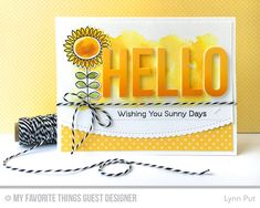 Handmade card from Lynn Put featuring Big Hello Die-namics #mftstamps
