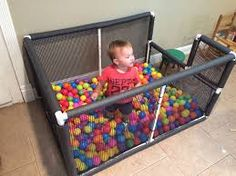 Ball pit from PVC pipe.
