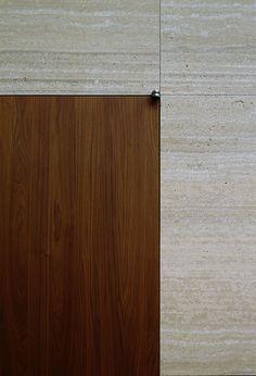 Travertine and wood. Vincent Van Duysen — VDV Residence.
