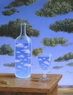 Surrealist painter Samy Charnine (not by Rene Magritte, or Rafal Olbinski) - Nuages. Rene Magritte, Conceptual Art, Surreal Art, Jean Arp, Alberto Giacometti, Anime Kunst, Fantasy Kunst, Art History, Fine Art