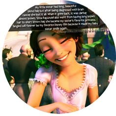 I put this pin in Faith in Humanity for a different reason, not for the general reason ^^ ~Tangled ~Rapunzel with short, brown hair Disney Nerd, Disney Tangled, Disney Love, Disney Magic, Rapunzel Movie, Princess Rapunzel, Punk Disney, Disney Fanatic, Disney Stuff