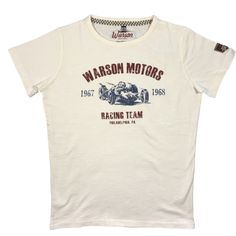 Warson Motors Racing Team 1967 Off-White Mens T-Shirt, S-2XL, made in Europe.  Available through www.rustyunionmoto.com.au Off White Mens, Racing Team, Motors, Europe, Mens Tops, T Shirt, Fashion, Supreme T Shirt, Moda