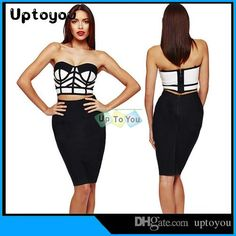 2015wholesale Fashion Midriff THE WAIST STRAPLESS Club Bodycon Dress the Package Hip Party Dress S-XL SIZES from Uptoyou,$6.81 | DHgate.com