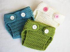 Crochet nappy cover pants