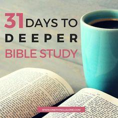 31 Days Deeper Bible Study