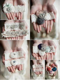 bridal garters | ... unique handmade wedding garter diy bridal garters # vintage # vintage