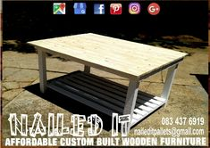 This is, hands-down, the biggest kitchen island I have ever made. White frame with clear / natural top and bottom storage shelve. Affordable, custom built, pallet wood furniture. Designed by you, built by us. For more info, contact 0834376919 or naileditpallets@gmail.com. #kitchenisland #kitchenislanddesign #kitchenislands #kitchenislandideas #palletfurnituredurban #custompalletfurniture #nailedpalletfurnituredurban #naileditcustombuiltpalletfurniture #nailedcustompalletfurniture