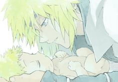 Naruto | Minato and baby Naruto, awwwww!