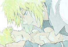 Naruto   Minato and baby Naruto, awwwww!