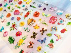 butterfly flower garden sticker floral flower by StickersKingdom