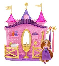 With the Disney Princess Shimmer Style Salon playset from Mattel, little Rapunzel fans can primp and pamper the princess at the royal salon. Disney Tangled, Disney Princess, Princess Rapunzel, Rapunzel Castle, Playsets For Sale, Style Salon, Mattel Shop, Monster High Birthday, Disney And More
