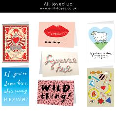 A6 greetings cards inclusive envelope emilyhayes.co.uk £2.50