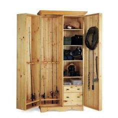 Fishing rods can be a pricey investment. Keep them safe and organized with all your other fishing gear in this DIY fishing / angler's cabinet.