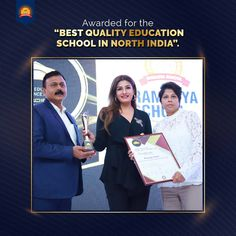 Yes! We did it again. Ramagya School has received the award for the Best Quality Education School In North India.