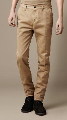 405f6ceb0507 Men s Clothing   Burberry United States. Tan ChinosSlim Fit ChinosMens  Chino PantsBurberry ...